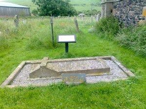 J Butler's grave in Kirknewton, 27.6.12 (Helen Mathers)