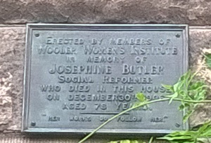 Plaque on the house where Josephine Butler died